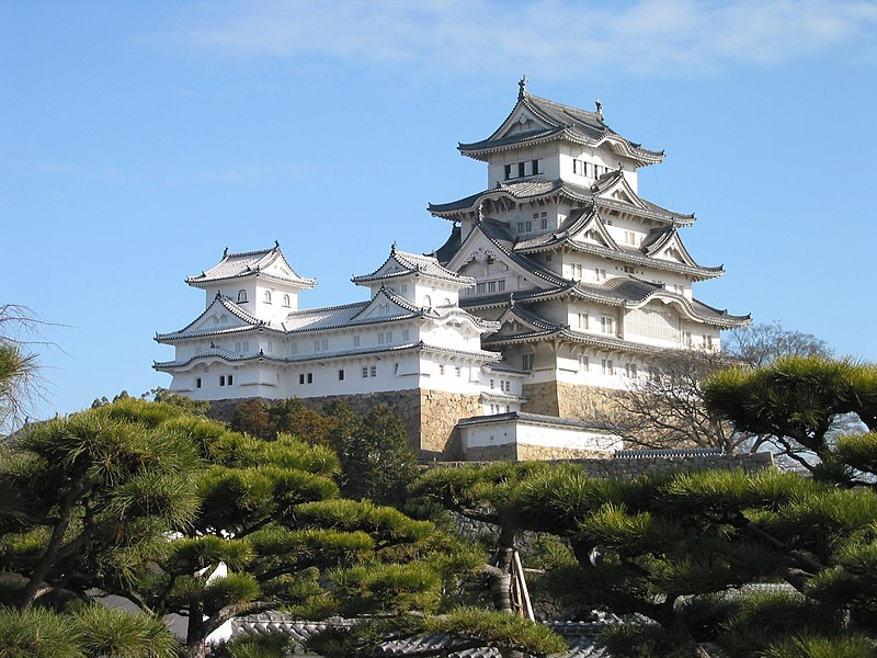 File:Himeji Castle The Keep Towers.jpg