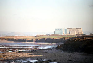Hinkley Point - The headland at Hinkley Point with the power stations visible in the background