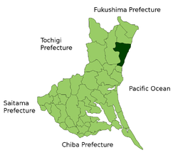 Location of Hitachi in Ibaraki