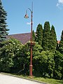 Holy Spirit Church garden, lamp, flower box, 2019 Veresegyház.jpg