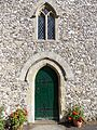 Holy Trinity Church Nuffield, Oxon, England - chancel west door.jpg