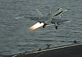 Hornet launches from USS Dwight D. Eisenhower. (8725564545).jpg