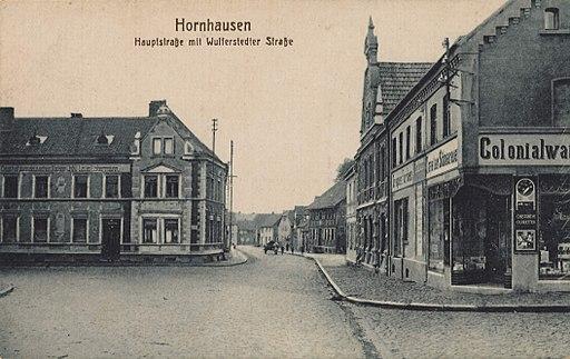 Hornhausen, Sachsen-Anhalt - Hauptstraße und Wulferstedter Straße (Zeno Ansichtskarten)