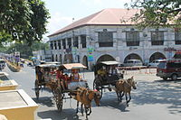Horse carriages in Vigan City.JPG