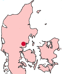 Horsens Denmark location map.png