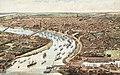 Hugo d'Alesi, vue cavalière de Bordeaux, 1899, Archives de Bordeaux métropole.jpg