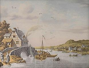 Houses along a River