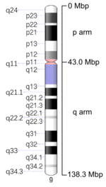 Map of Chromosome 9