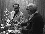 Hundertwasser (left) 1965 in Hannover