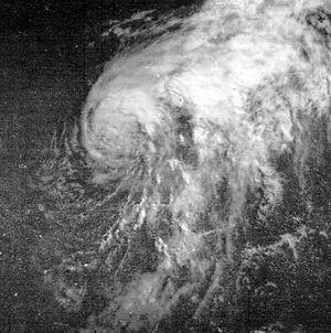 1968 Atlantic hurricane season - Image: Hurricane Abby Jun 4 1968 1204Z