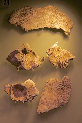 Huxley Hoard - Lead fragments found with the Huxley Hoard