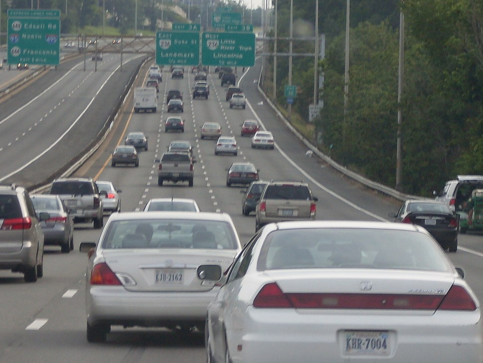 I-395 in Fairfax County, Virginia
