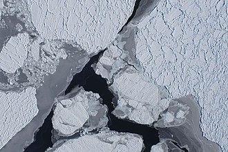 Operation IceBridge - Aerial photo of Pine Island Glacier taken during Operation IceBridge