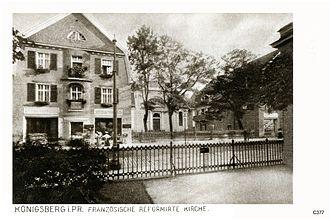 Joachim Ludwig Schultheiss von Unfriedt - Image: ID004415 C377 Kbg Franzoesisch Reformierte Kirche