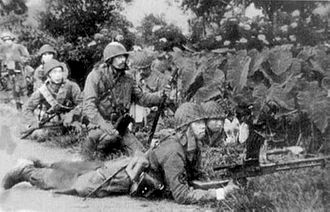 Battle of Manado - IJN paratroopers, attacking Dutch troops at Longoan airfield