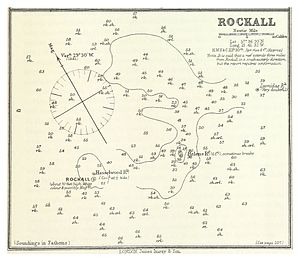 Helen's Reef - ROCKALL - Nautical chart - Atlantic Sea Pilot, 1884