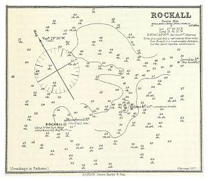 Hasselwood Rock - ROCKALL - Nautical chart - Atlantic Sea Pilot, 1884