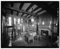 INTERIOR VIEW OF CENTRAL HALL - George Sealy House, 2424 Broadway, Galveston, Galveston County, TX HABS TEX,84-GALV,28-4.tif