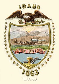 Idaho territory coat of arms