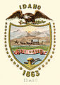 Idaho Territory coat of arms (1863-1866) of Idaho Territory