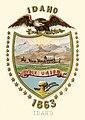 Idaho revestimento território dos braços (1863-1866) de Idaho território