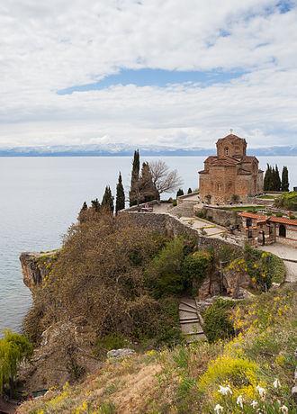 Church of St. John at Kaneo - Image: Iglesia San Juan Kaneo, Ohrid, Macedonia, 2014 04 17, DD 23