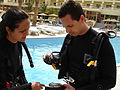 Igor Galli and Rubia Barbosa doing a dive course in Egypt, Hurghada.JPG