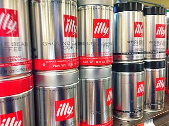 Illy - Metal canisters of illy coffee beans