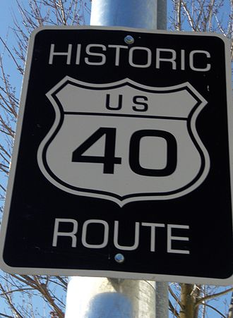 Interstate 80 in California - A sign in California recognizing an old alignment of US 40