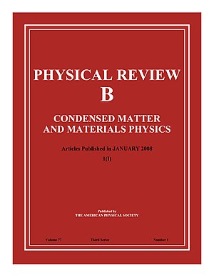 Physical Review B - Image: Image of front cover of the journal Physical Review B