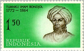 Tuanku Imam Bonjol - Tuanku Imam Bonjol featured in a 1961 stamp.