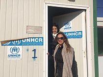 Iman Mutlaq visits Zaatari Refugee Camp