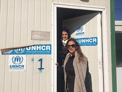 In Jordan, UNHCR remains responsible for the Syrian refugees and the Zaatari refugee camp. Iman Mutlaq visits Zaatari Refugee Camp.jpg