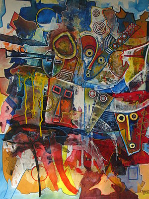 Caribbean art - Turgoart (Haiti), Another Call From Africa, 2009