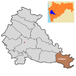 Indapur tehsil in Pune district.png