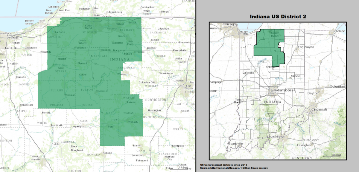 Indianas Nd Congressional District Wikipedia - Indiana on the us map