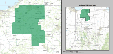 Indianas Congressional Districts Wikipedia - Indiana us map