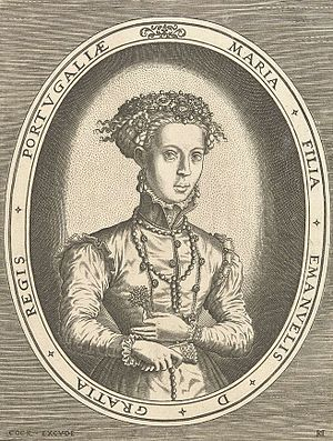 Maria of Portugal, Duchess of Viseu - Hieronymus Cock, c. 1554-1556.