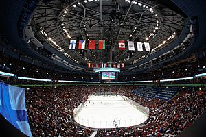 Rogers Arena - Rogers Arena (then named Canada Hockey Place) during the Men's Hockey events at the 2010 Winter Olympics