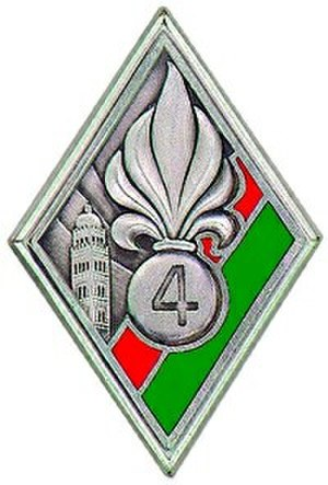 4th Foreign Regiment - Regimental badge of 4e RE