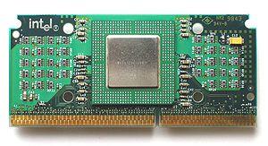 Celeron - Intel Celeron Mendocino 300 MHz in SEPP package.