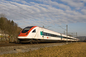 Swiss Federal Railways - ICN between Zurich and Winterthur