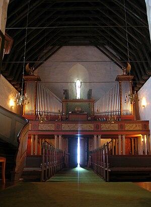 Vangen Church (Aurland) - Image: Interiør Vangen kyrkje