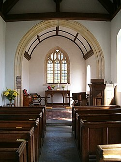 Interior of Downhead parish church - geograph.org.uk - 231207.jpg