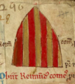 Inverted arms of Raimund, count of Provence referring to his death.png