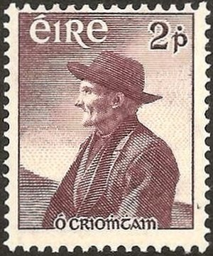 Tomas O'Crohan - Ó Criomhthain on an Irish postage stamp.
