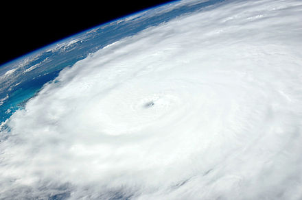The eye of Hurricane Irene as viewed from the International Space Station on August 24, 2011 Irene ISS028-E-031903 Aug 24 2011.jpg