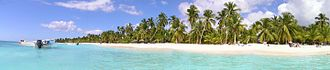 Saona Island - Panoramic view of Saona Island