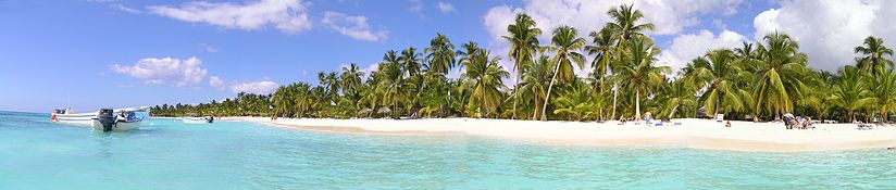 Panoramic view of Saona Island