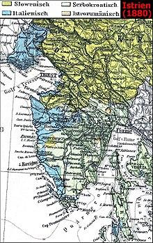 Karte Istrien Kroatien.Istrien Wikipedia